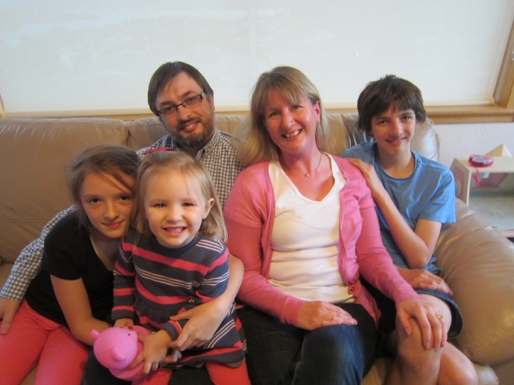 Joanne and Glyn with Quillan, Delphine and Anneli in 2014