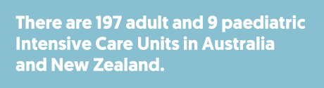 There are 197 adult and 9 paediatric Intensive Care Units in Australia and New Zealand.